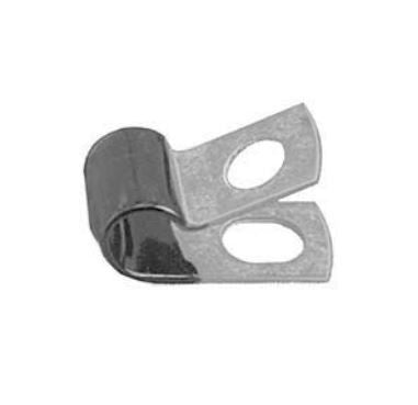 "Auveco # 10598  Closed Clamp 1/4""- Galvanized Vinyl Coated."