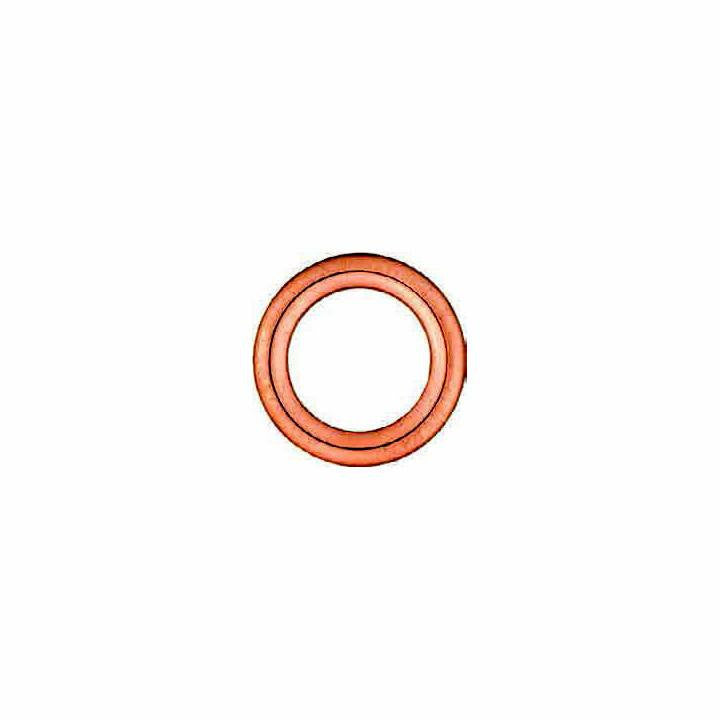 Auveco # 22223  Copper Crushable Oil Drain Plug Gasket, ID 14mm, OD 22mm.