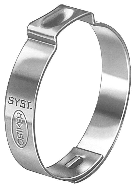 "Auveco # 18436  Crimp Type Hose Clamp 3/8""."