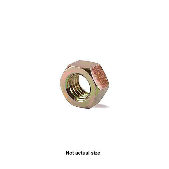 "Auveco # 9307  1/4""-28 Grade 8 Hex Nut Zinc High Alloy."