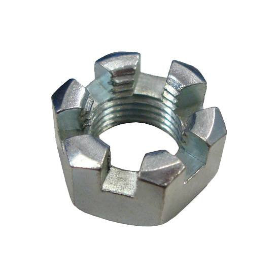 "Auveco # 12723  Slotted Finished Hex Nuts 5/8""-18 SAE Znc."