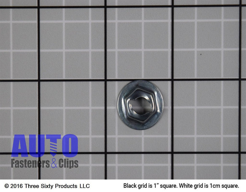 "Thread Cutting Nut 1/4"" Stud Size 11/16"" Washer Dia. Auveco 3405. Qty. 200"