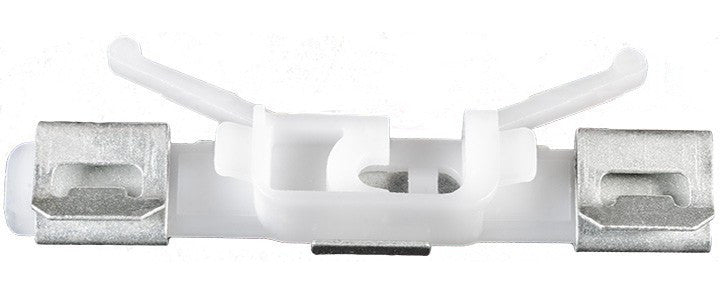 Auveco # 22137  Volvo Windshield Molding Clip, Metal And White Nylon.