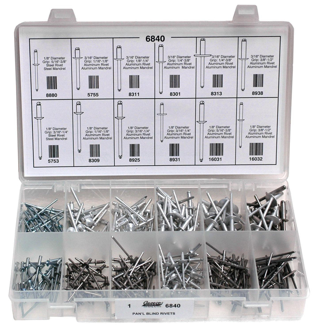 Auveco # 6840  Pan-L Blind Rivets Quik-Select Kit.