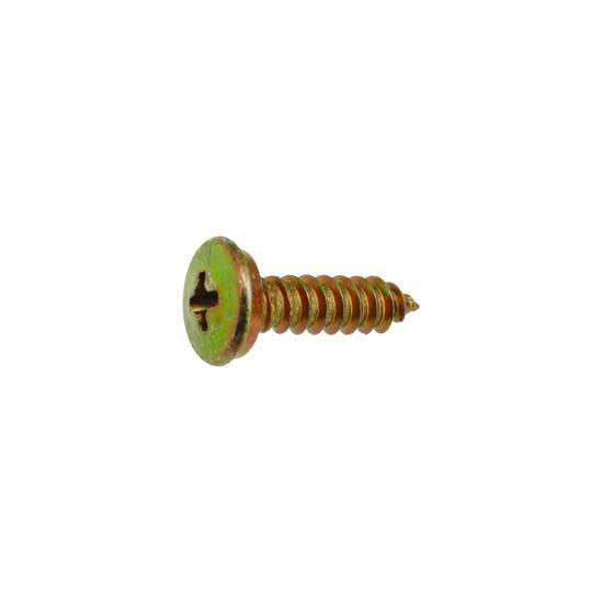 Auveco # 18156  BMW License Plate Screw M4.8 X 16mm Zinc/Yellow.