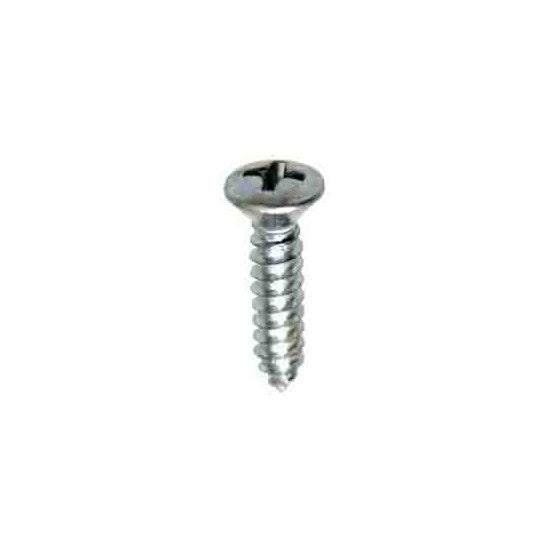 "Auveco # 2359  Number 8 X 3/4"" Phillips Oval Hd. Tapping Screw Zinc."