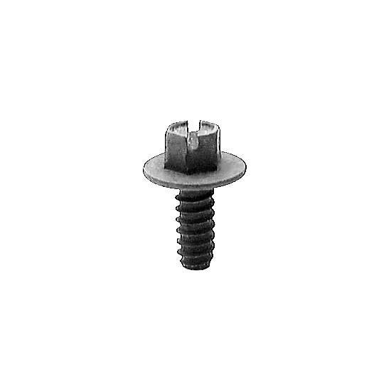 "Auveco # 16421  Slotted Hex Washer Hd. License Plate Screw Number 14 X 5/8"" Black."