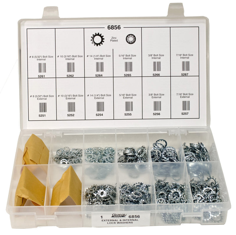 Exterior And Interior Lock Washer Quik-Select Kit. Auveco 6856. Qty.  1 Assortment