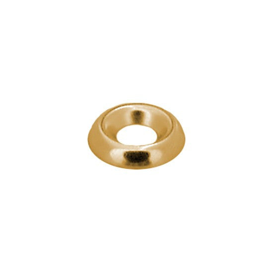 Number 10 Brass Countersunk Washer - Plain. Auveco 16593. Qty. 100