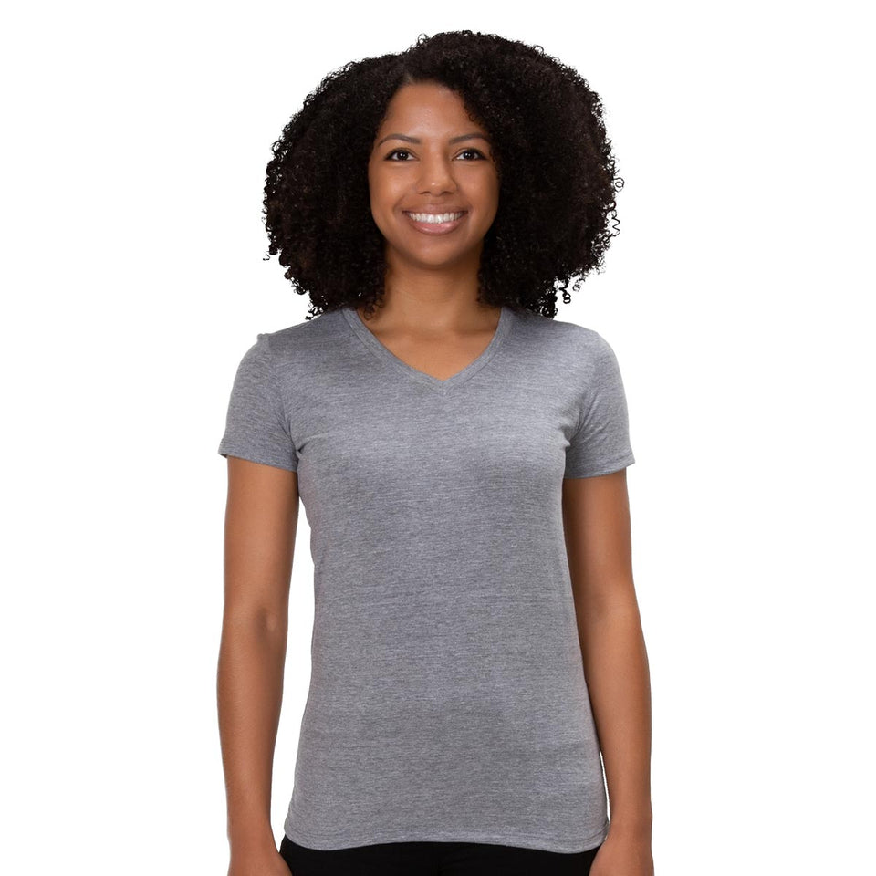 Allmade Women's Tri-Blend V-Neck T-Shirt | Allmade® Apparel