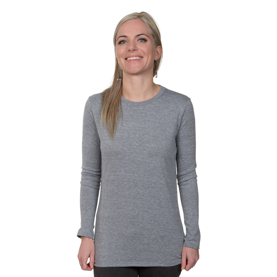 Allmade Ladies Tri-Blend Long Sleeve Crewneck Shirt | Allmade® Apparel