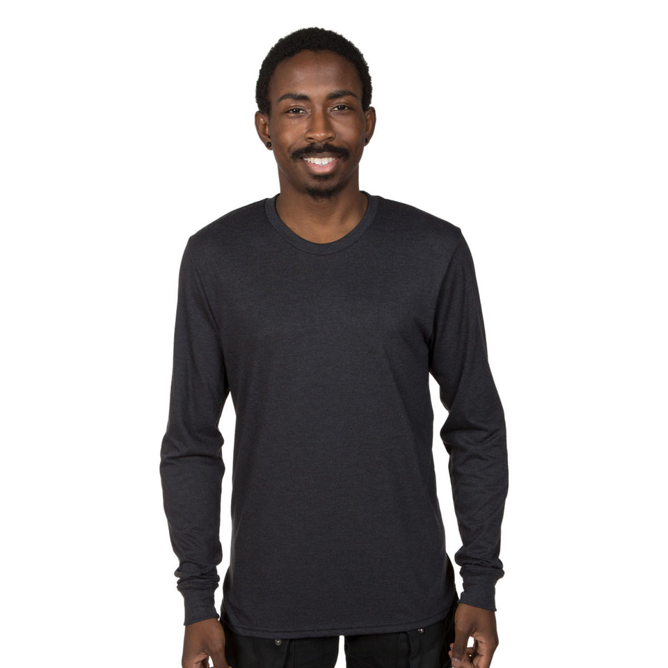 Allmade Unisex Tri-Blend Long Sleeve Crewneck Shirt | Allmade® Apparel