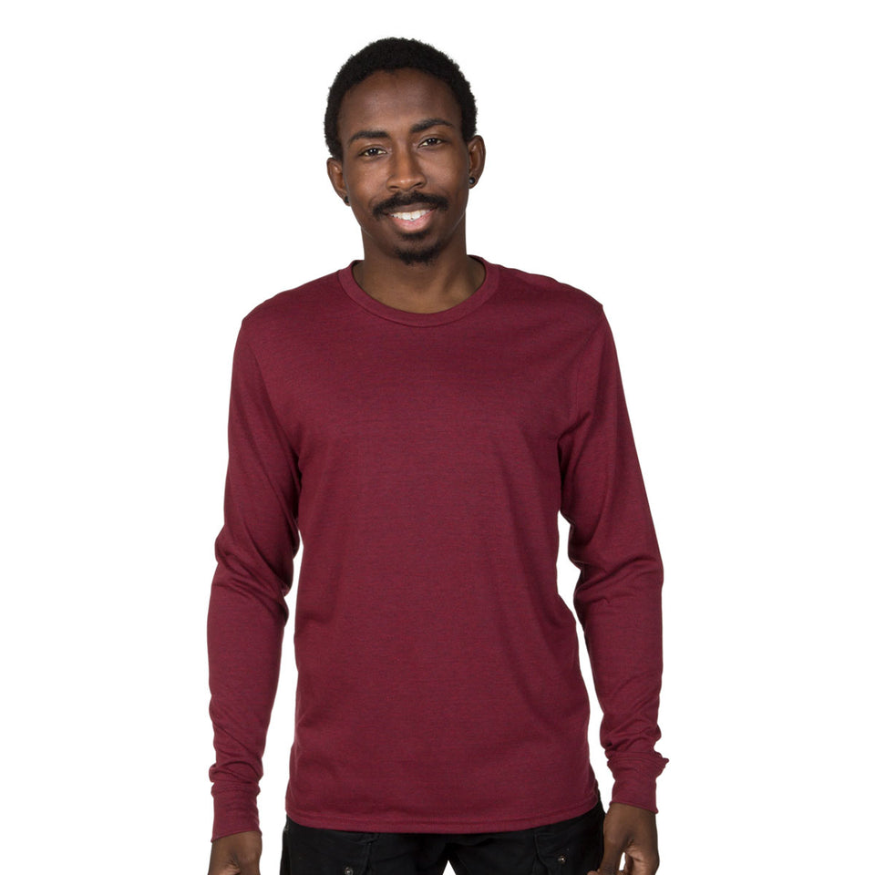 Allmade Mens Tri-Blend Long Sleeve Crewneck Shirt | Allmade® Apparel