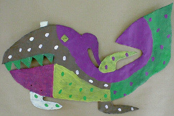 David Butler Outsider art Fish on metal  - Anton Haardt Gallery