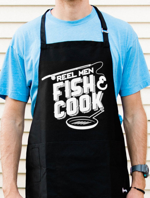Reel Men Fish & Cook Apron