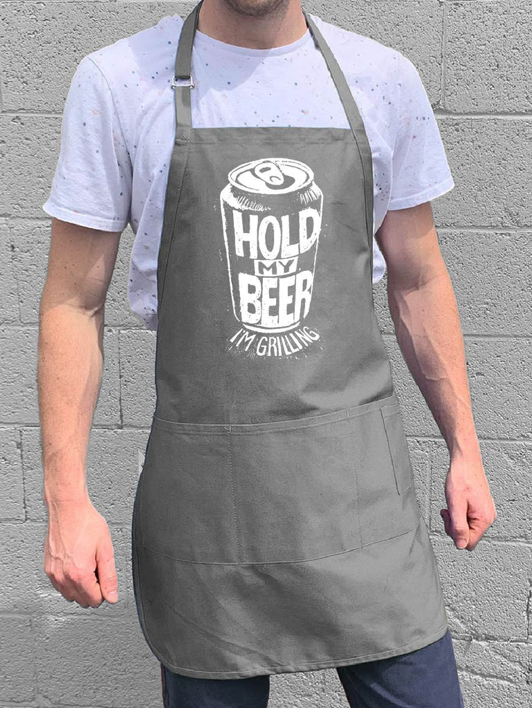 Hold My Beer Apron - Gray