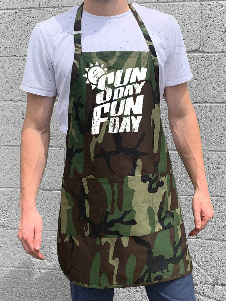 Sunday Fun Day Apron - Camo