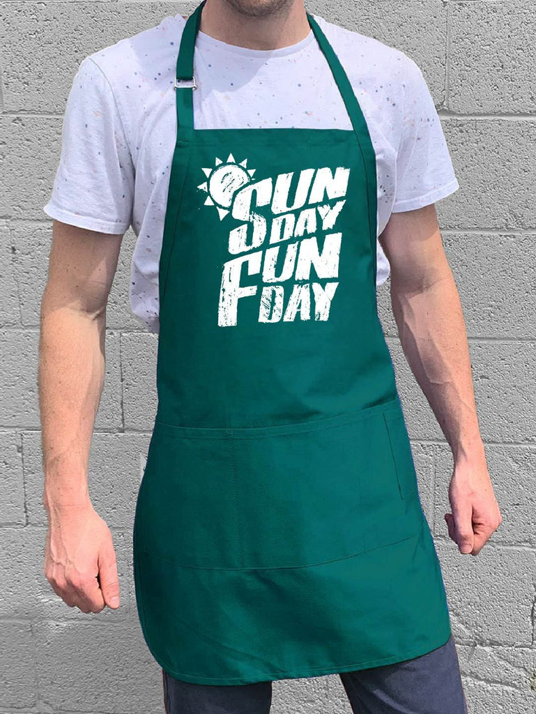 Sunday Fun Day Apron - Teal
