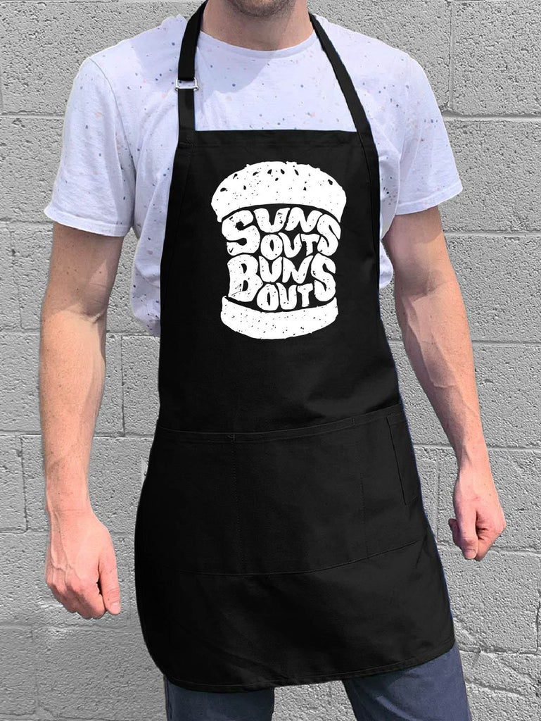 Suns Out Buns Out Apron - Black