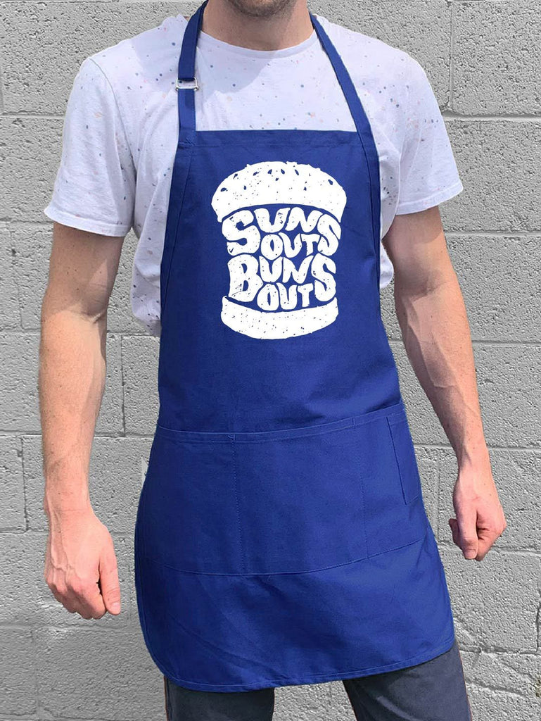 Suns Out Buns Out Apron - Blue