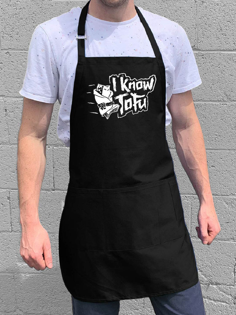 I Know Tofu Apron - Black