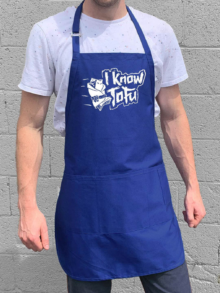 I Know Tofu Apron - Blue