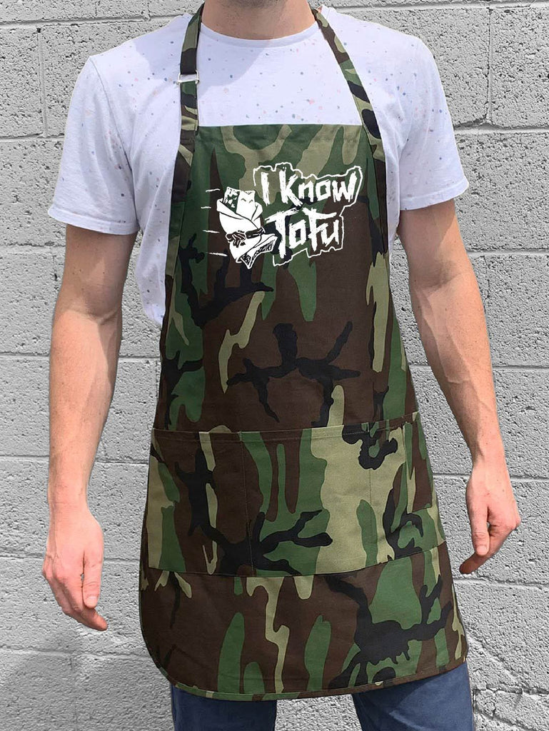 I Know Tofu Apron - Camo