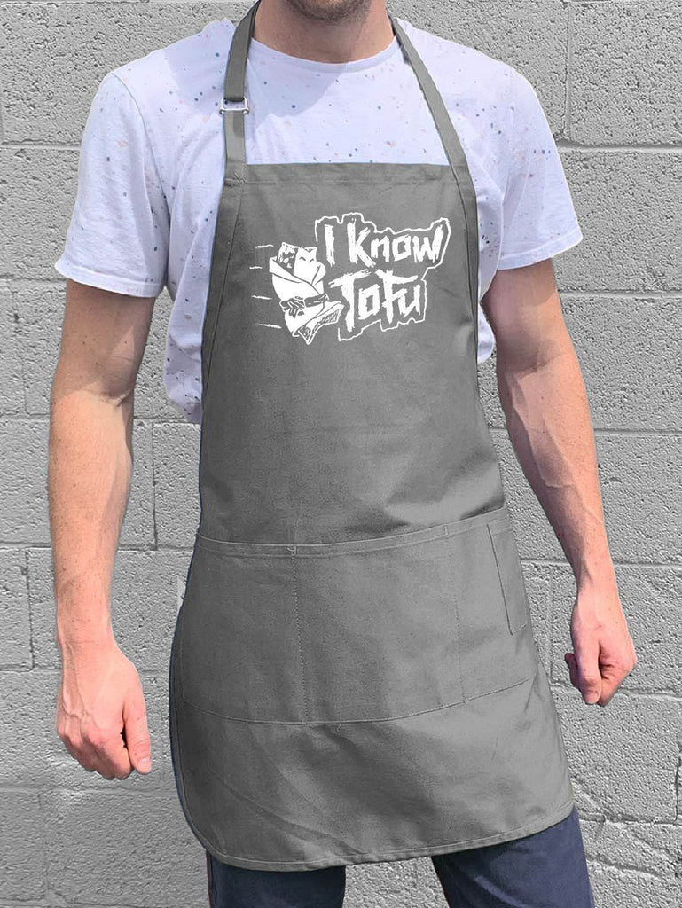 I Know Tofu Apron - Gray