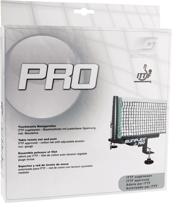 Sunflex Pro Table Tennis Net and Post Set