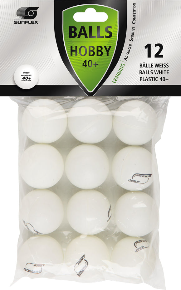 Sunflex Hobby Table Tennis Balls - 12pk