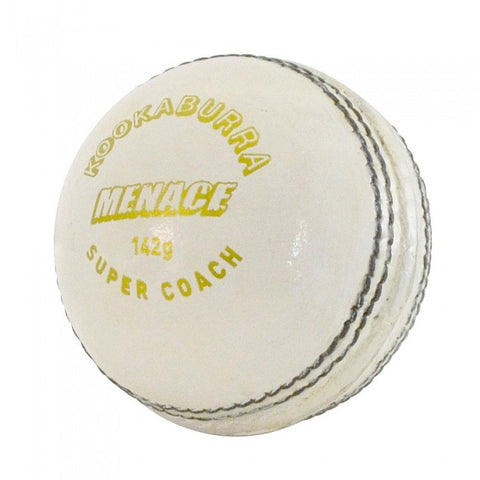 Kookaburra Menace White Cricket Ball (Dozen)