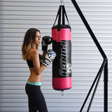 Punch Urban Boxing Bag - 90 x 30cm (Black/Pink)