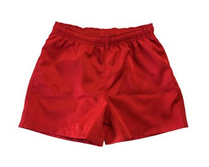 Junior Red Rugby Shorts