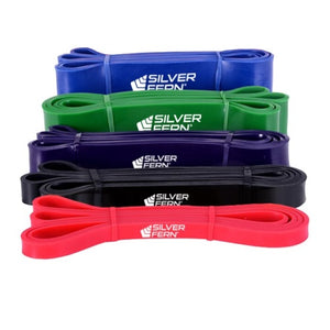 Silver Fern Resistance Band Five Pack