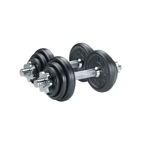 York Cast Iron Plate Dumbbell Set - 20kg