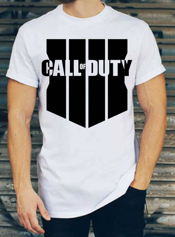 Call Of Duty Black Ops 4 Logo Beyaz T-Shirt
