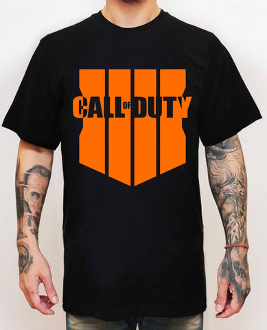 Call Of Duty Black Ops 4 Logo Siyah T-Shirt