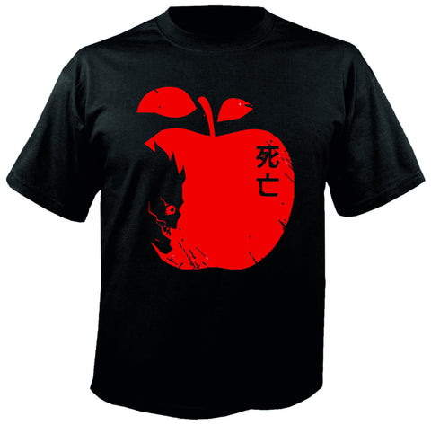 Death Note Shinigami with Apple Siyah Tişört
