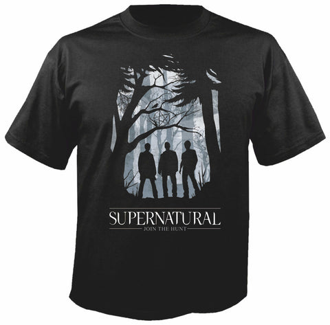Supernatural Join the Hunt Siyah Tişört