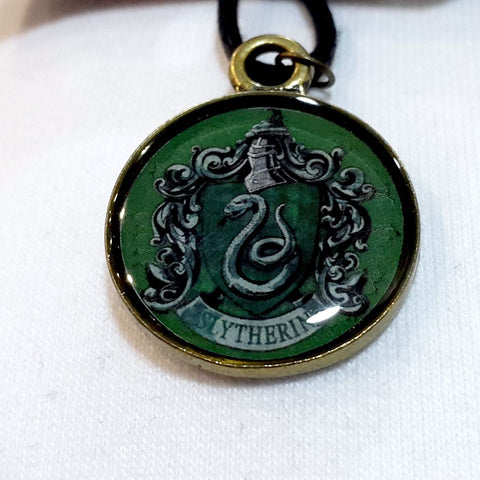 Harry Potter Slytherin Arma Madalyon Kolye El Yapımı