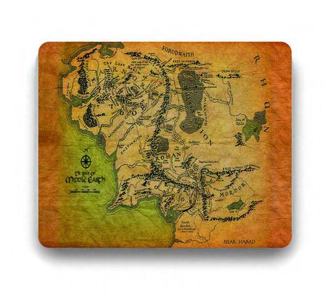 Lord Of The Rings Mousepad Middle Earth
