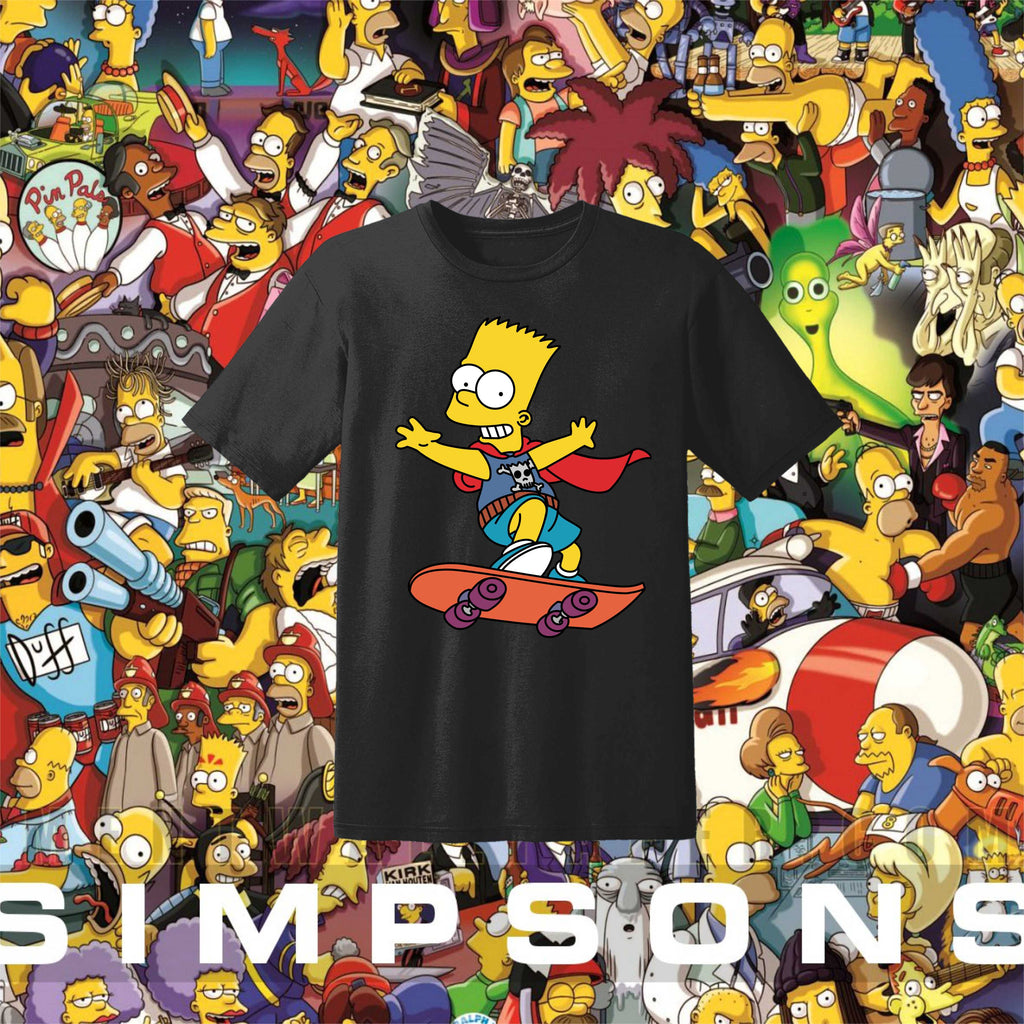 The Simpsons Bart Simpson Siyah Tişört