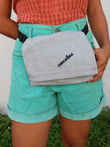 Hip pouch | Upcycled denim - Solid