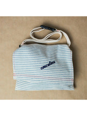 Hip pouch | Woven over white - Upcycled denim - shopconcalma