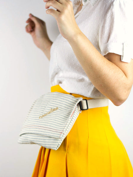 Hip Pouch / UPD Woven Over White / CC