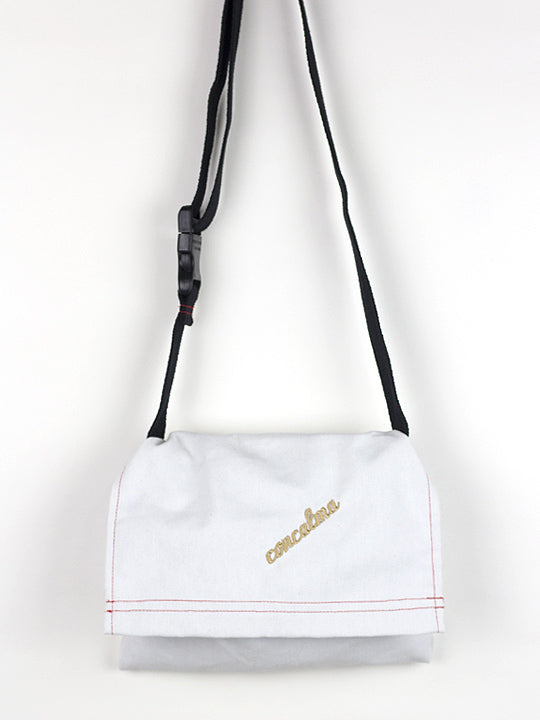 Hip Pouch / White Canvas / CC