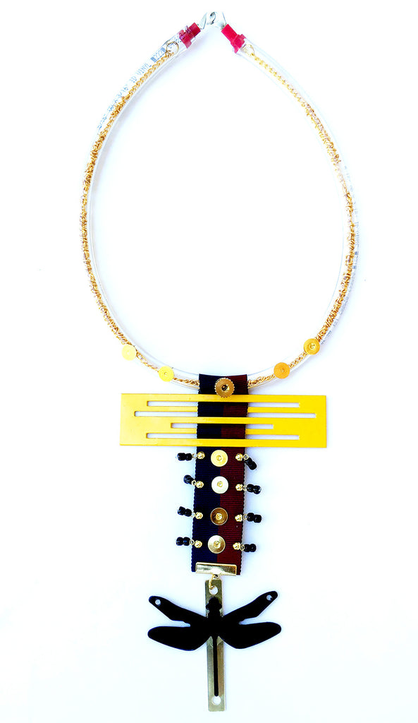 Modern Yellow Necklace