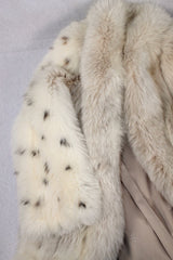 PRE-OWNED MEDIUM LONG LYNX-DYED FOX FUR COAT - THICK & SOFT! - from THE REAL FUR DEAL & DAVID APPEL FURS new and pre-owned online fur store!