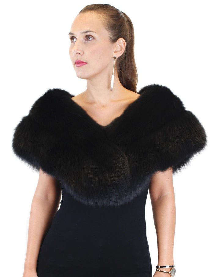 BLACK FOX FUR STOLE, CAPELET - from THE REAL FUR DEAL & DAVID APPEL FURS new and pre-owned online fur store!