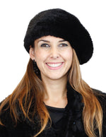 KNITTED MINK FUR BERET HAT - from THE REAL FUR DEAL & DAVID APPEL FURS new and pre-owned online fur store!